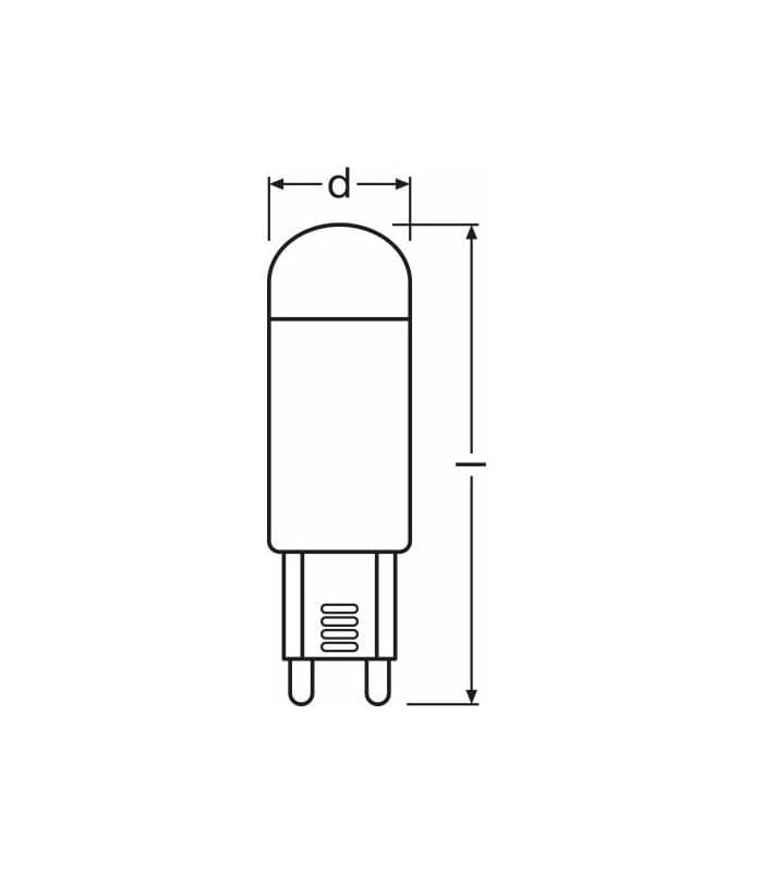 led star pin 1 9w ww g9 led star 2 g9 4052899920606 en. Black Bedroom Furniture Sets. Home Design Ideas