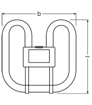 2D Cfl Square 38W-835 GR10q 4PIN