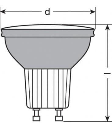 led decospot par16 cc 240v 1w gu10 farbwechsel. Black Bedroom Furniture Sets. Home Design Ideas