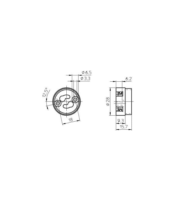 douille gu10 gz10. Black Bedroom Furniture Sets. Home Design Ideas