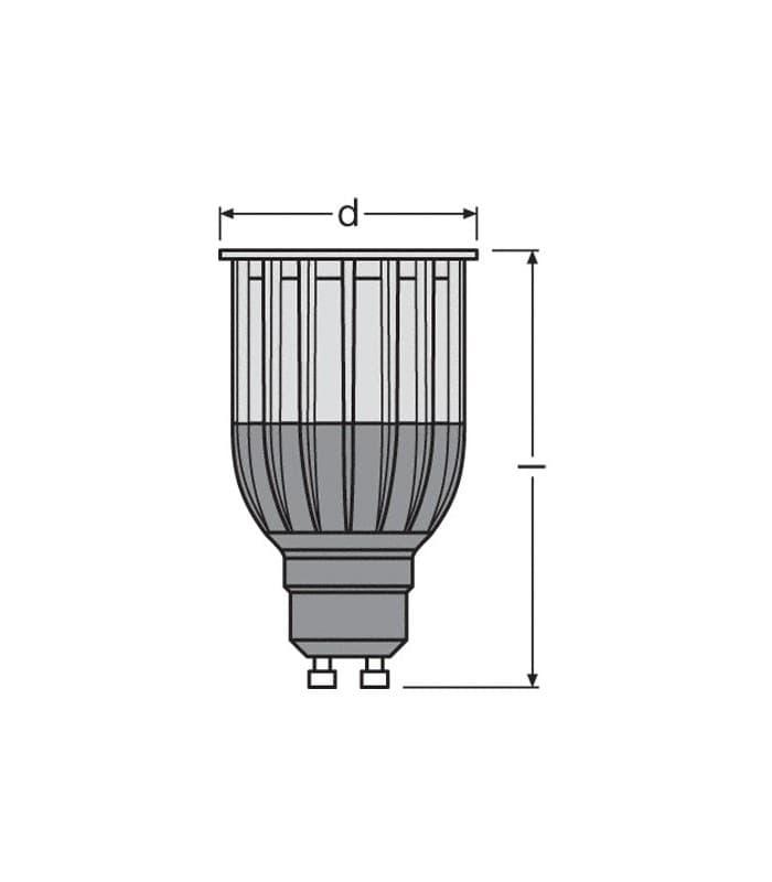 led parathom par16 50 10w ww 230v gu10 36deg dimmable. Black Bedroom Furniture Sets. Home Design Ideas