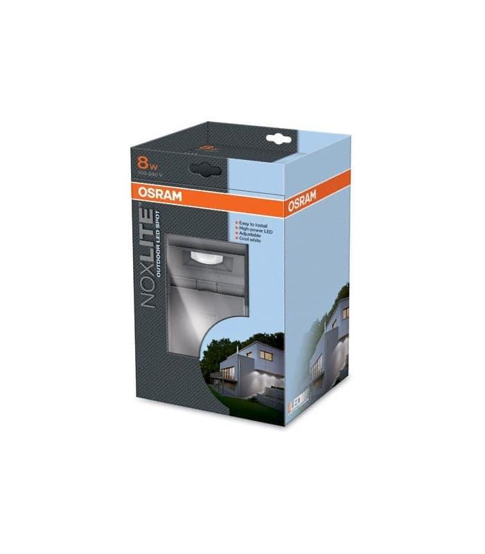 noxlite led spot 8w gr ip44 41012 41012 4008321960955 de. Black Bedroom Furniture Sets. Home Design Ideas