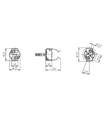 lampenhalter fassung gu5 3. Black Bedroom Furniture Sets. Home Design Ideas
