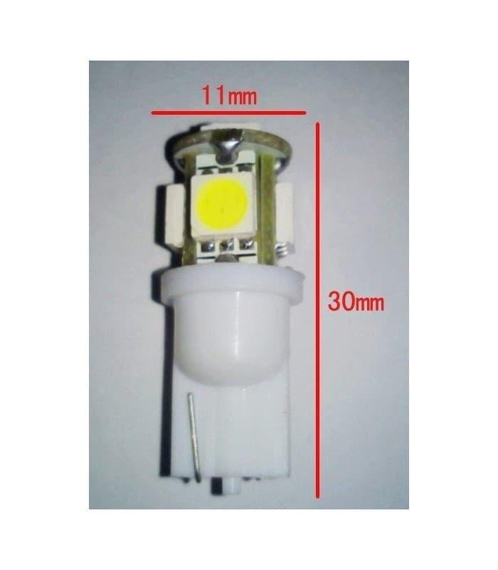 LED Retrofits 0.8W W5W 12V T10 5SMD 6000K T10-5SMD5050 ...