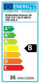 Philips Brilliantline Dichroic 50 35W 12V 14615 MR16 24D GU5.3