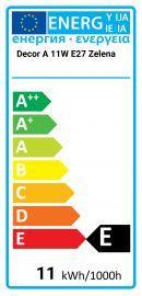 Osram Decor A 11W E27 Green