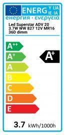 Osram LED Superstar ADV 20 3.7W WW 827 12V MR16 36D Regulable
