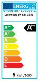 Svetila.com LED Insecta 5W E27 Amarillo