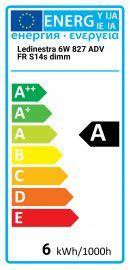 Osram LEDinestra 6W 827 ADV FR S14s Gradable