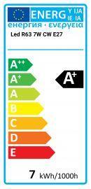 Avide LED R63 7W CW E27