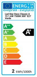 Led Star Deco Classic A 15 1.6W 7500K 300° E27 Green Osram 4058075816015 LEDSCLA15GREEN1