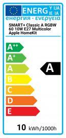 SMART+ Classic A RGBW 60 10W E27 Multicolor Apple HomeKit Osram 4058075816497 SMART-CL-A60-10W-RGB-APPLE