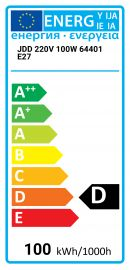 JDD 220V 100W 64401 E27 Best alternative 4008321393845 JDD-100W