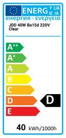 JDD 40W Ba15d 220V Clear Best alternative 8718309823610 648372500