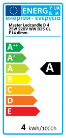 Master Ledcandle D 4 25W 220V WW B35 CL E14 Regulable Philips 8718291193708 929000214302
