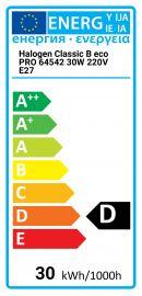 Halogen Classic B eco PRO 64542 30W 220V E27 Osram 4008321998460 64542-B-PRO-E27