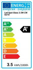 Avide LED Spot Glass 3.5W CW GU10